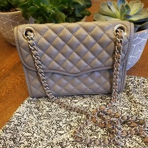 Rebecca Minkoff gray quilted mini affair